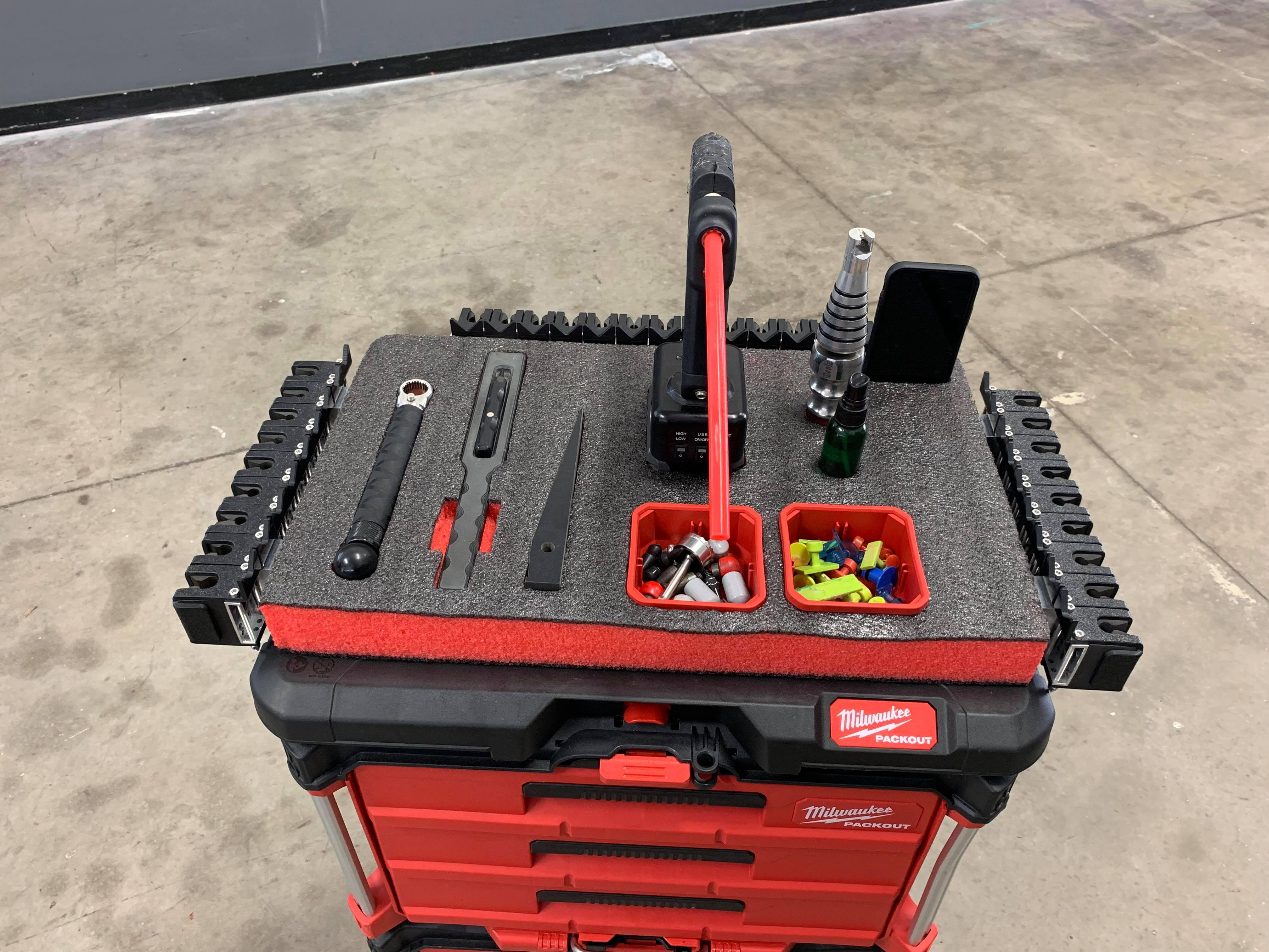 Paintless dent repair tool cart